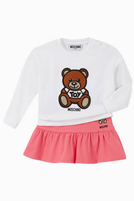hover state of Teddy Bear Embroidered Mini Skirt