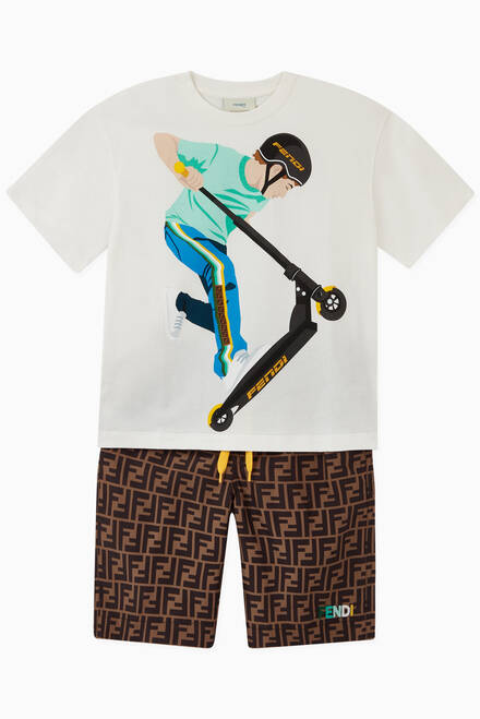 hover state of Boy on Scooter T-shirt in Cotton