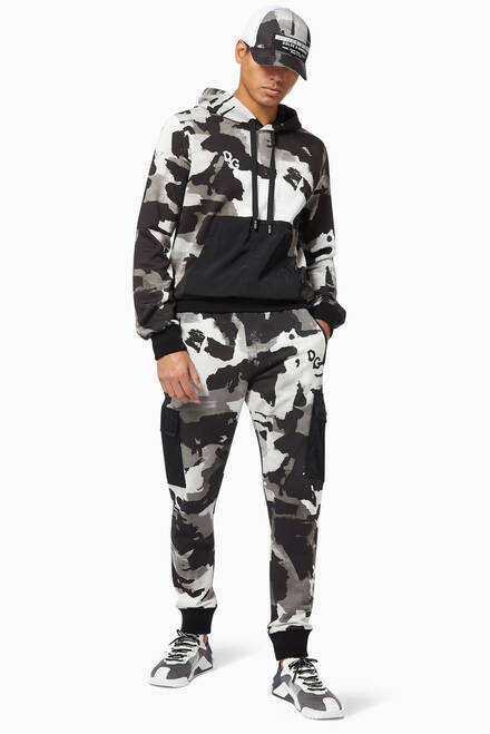 hover state of Camouflage Cotton Hoodie