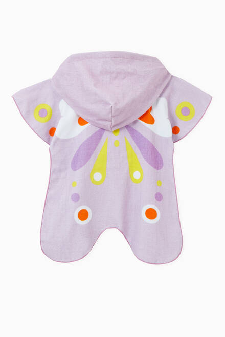 hover state of Butterfly Cotton Hooded Towel