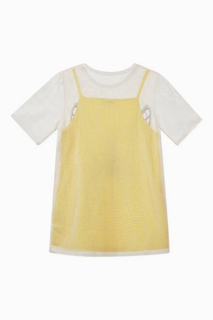 hover state of Butterfly Cotton Net 2-in-1 Dress