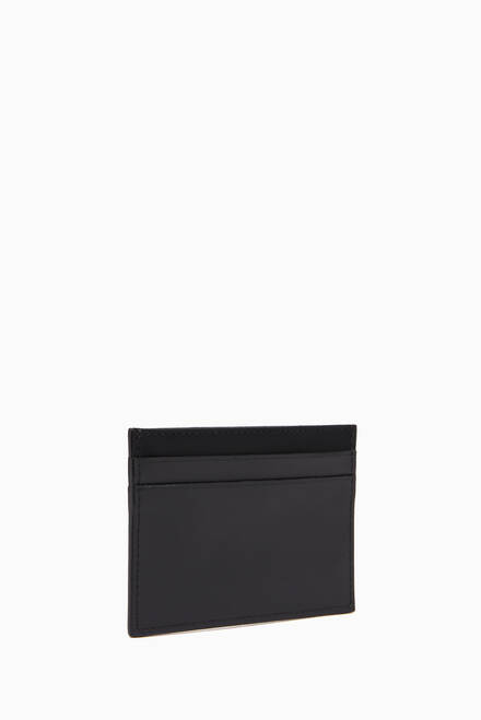 hover state of Rubber Logo Cardholder in Leather