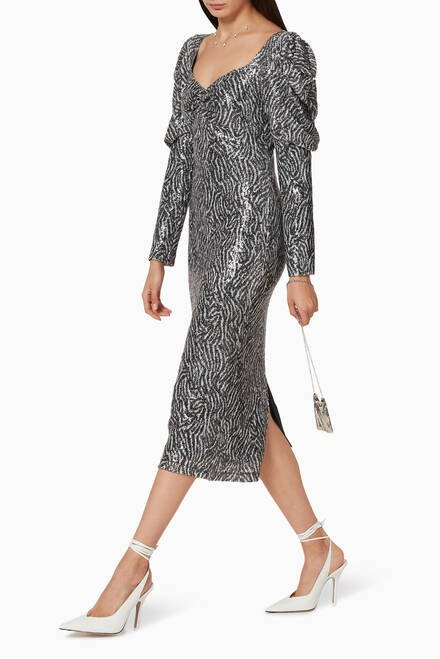 hover state of Morag Embellished Midi Dress