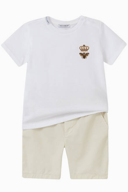 hover state of Cotton Jersey T-shirt with Bee & Crown