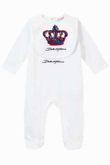 hover state of 2-piece Gift Set with Crown Print in Cotton Jersey