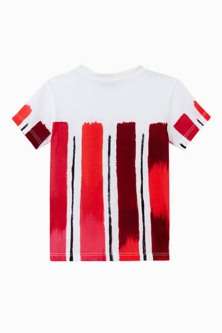 hover state of Crown T-shirt in Brushstroke-print Cotton Jersey