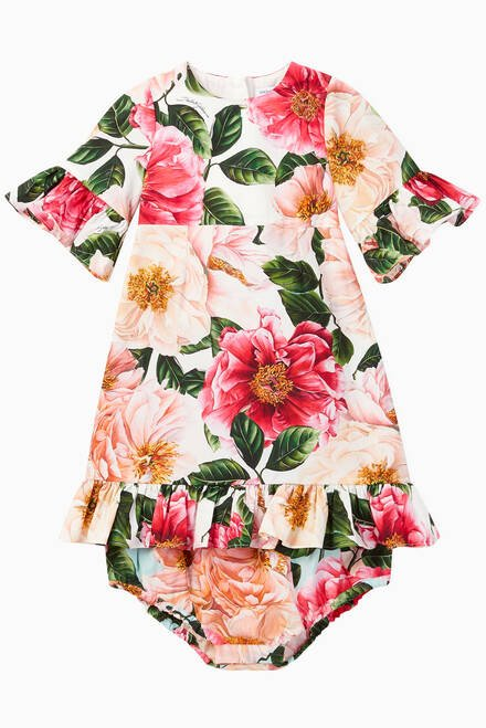hover state of Camellia Cotton Poplin Dress with Bloomers