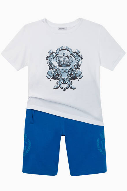 hover state of Crown Logo Cotton Shorts