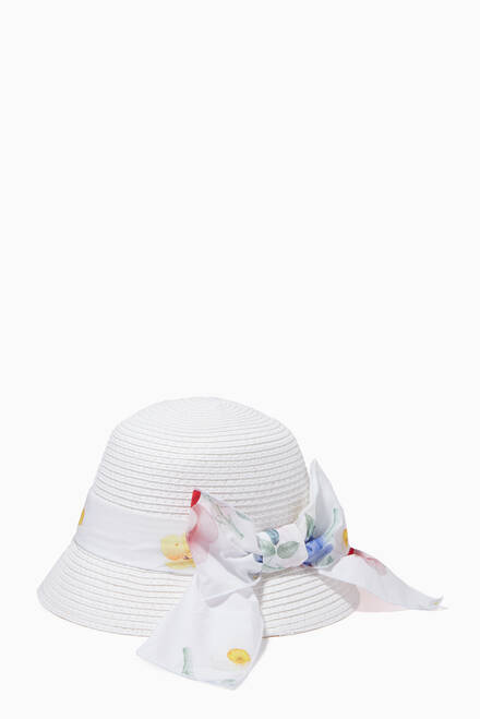 hover state of Butterfly Ribbon Sun Hat