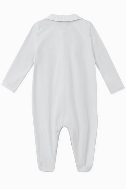 hover state of Embroidered Bunnies Jersey Footed Sleepsuit