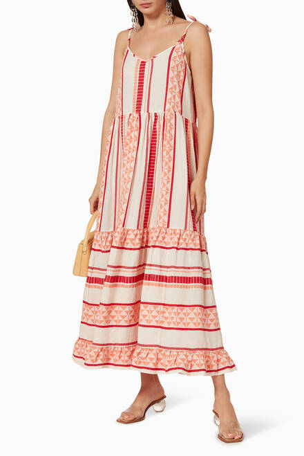hover state of Zakar Cotton Maxi Dress