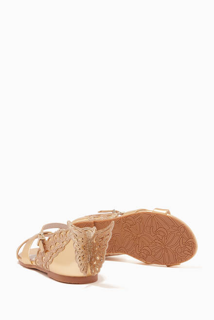 hover state of Mini Evangeline Sandals in Metallic Nappa