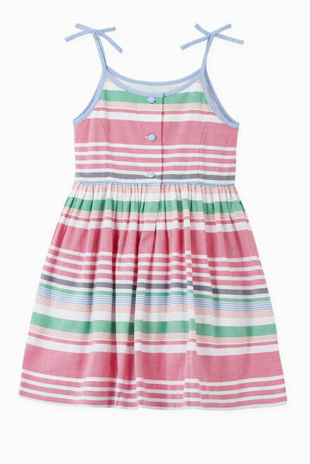 hover state of Stripes Oxford Classic Dress in Cotton