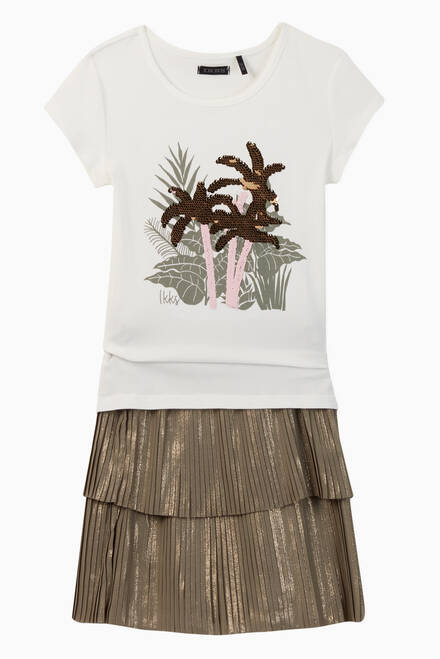 hover state of Sequin Palm Trees Jersey T-Shirt