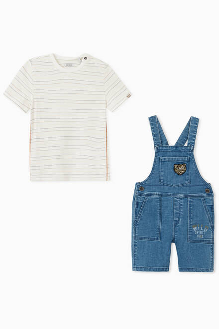 hover state of Denim Dungaree and T-shirt