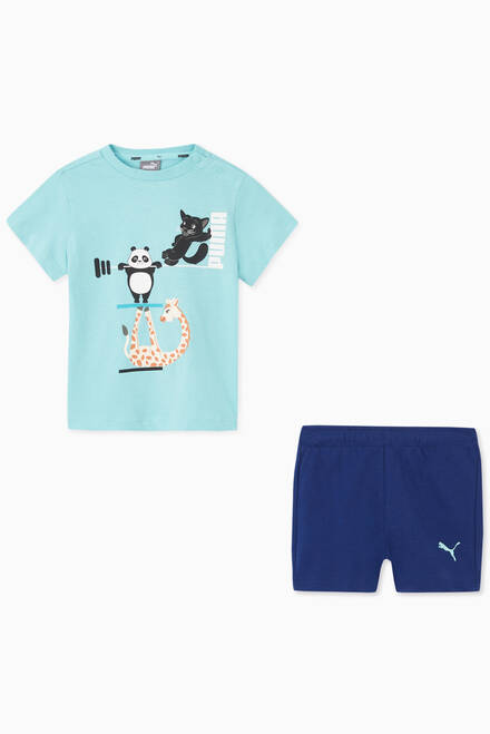 hover state of Panda & Giraffe T-shirt and Shorts Set
