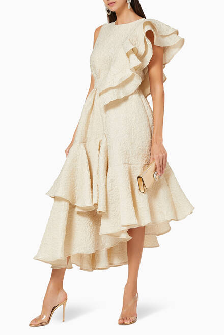 hover state of Ruffled Tiered Dress
