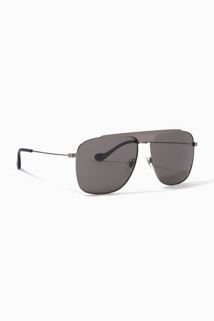 hover state of Aviator Sunglasses in Metal