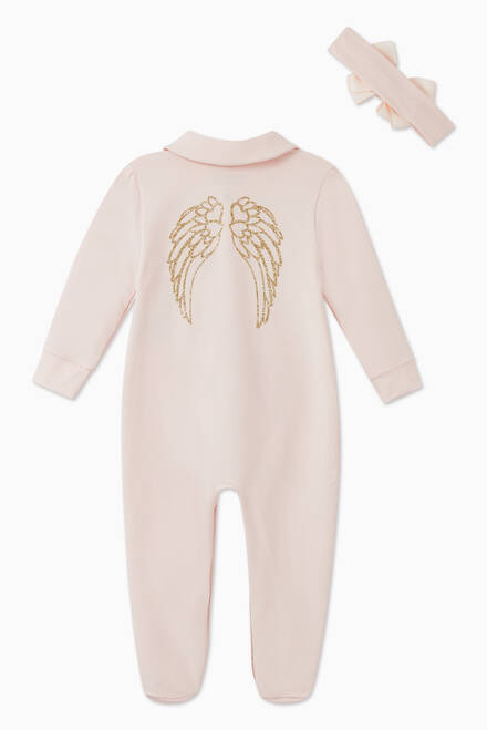 hover state of Eve Pajama Set in Cotton Jersey