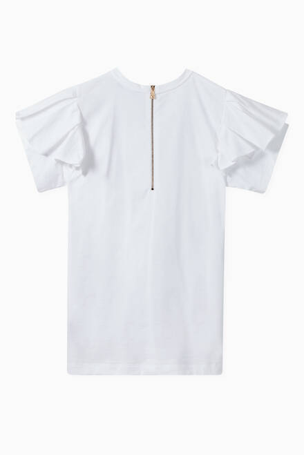 hover state of Ruffled T-Shirt Dress in Cotton Jersey