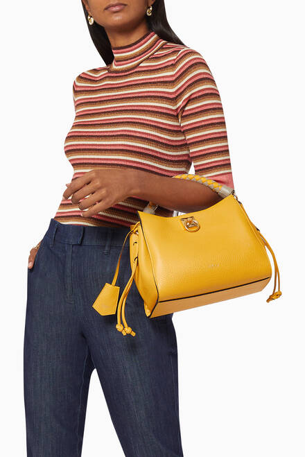 hover state of Small Iris Shoulder Bag in Heavy Grain