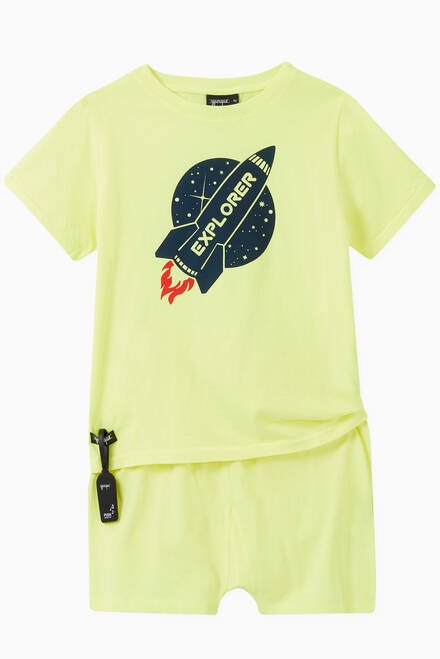 hover state of Explorer Spaceship Jersey T-shirt