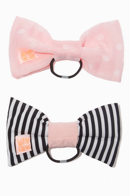 hover state of Bow Fantastic Hair Tie, Set of 2