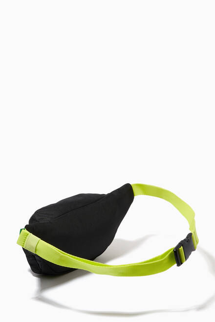 hover state of Neon Detail Flag Patch Waist Bag in Recycled Polyester