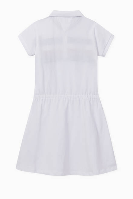 hover state of Polo Dress in Stretch Organic Cotton Pique