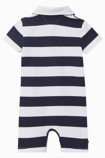 hover state of Rugby Striped Bodysuit in Organic Cotton Jersey