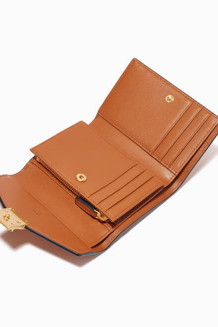 hover state of Patricia Trifold Wallet in MCM Monogram Leather