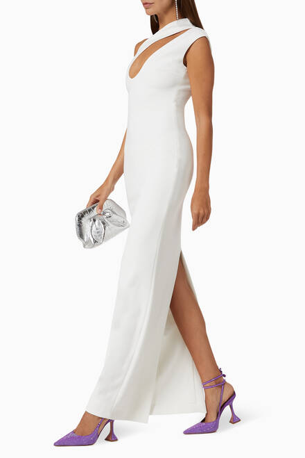 hover state of Krista Crêpe Evening Gown