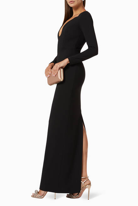 hover state of Sanna Crêpe Evening Gown