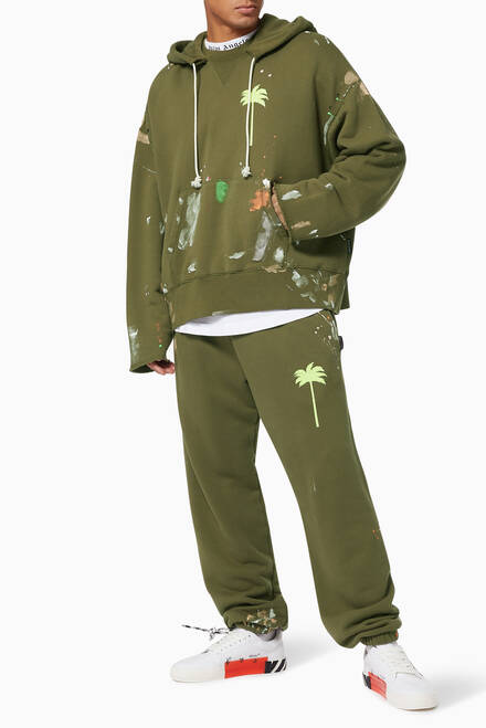 hover state of Painted Palm Tree Cotton Sweatpants