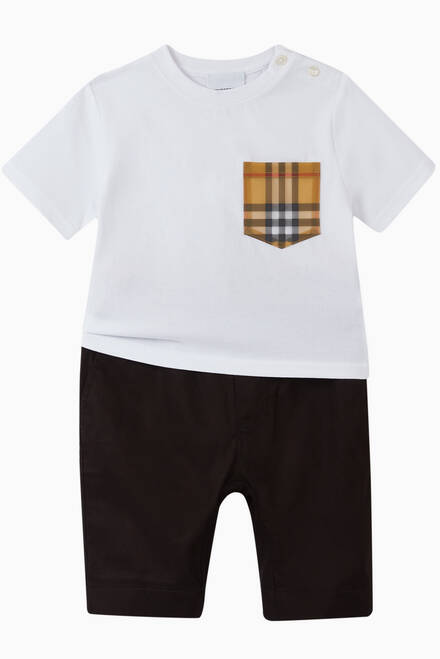 hover state of Vintage Check Pocket T-shirt in Cotton