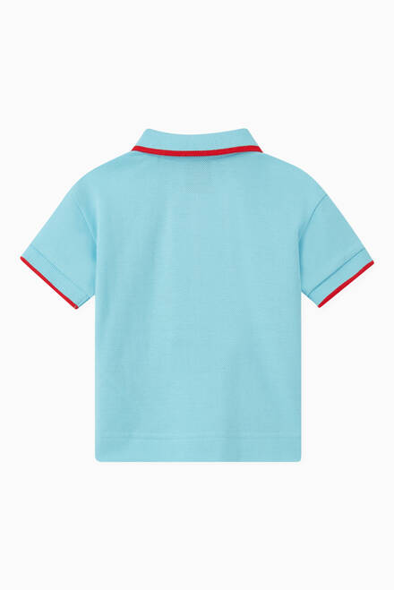 hover state of Polo Shirt with Icon Stripe Detail in Cotton