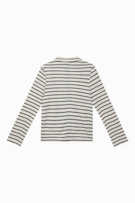 hover state of Striped Knit Cardigan