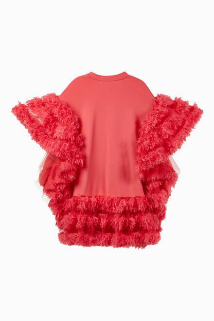 hover state of Ruffled Cape Dress