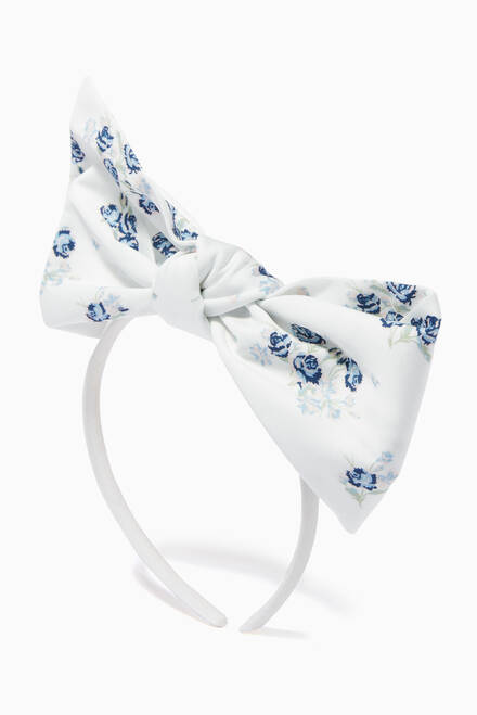 hover state of Origami Bow Headband in Cotton