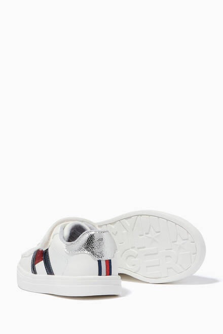 hover state of Logo Flag Velcro Sneakers in Faux Leather