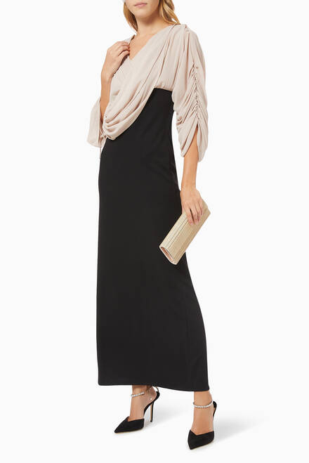 hover state of Draped Ruched Dress
