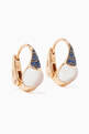 thumbnail of Rose-Gold, Moonstone & Blue Sapphire M'ama Non M'ama Earrings  #0
