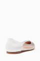 thumbnail of White Plexi Leather Ballerinas #2