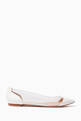 thumbnail of White Plexi Leather Ballerinas #4