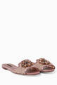 thumbnail of Pink Lace Embellished Bianca Sandals #0