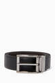 thumbnail of Black All-Over Logo Reversible Belt #0