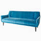 thumbnail of Mrs Godfrey Blue Velvet Sofa #1