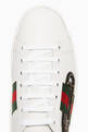 thumbnail of White Ace Embroidered Leather Sneakers #3