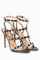 thumbnail of Nero Rockstud Leather Sandals #0