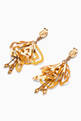 thumbnail of Gold Large Impatiens earrings #2